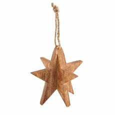 Brown 3D Star Ornament
