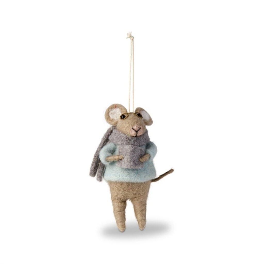 Felt Mouse With Book