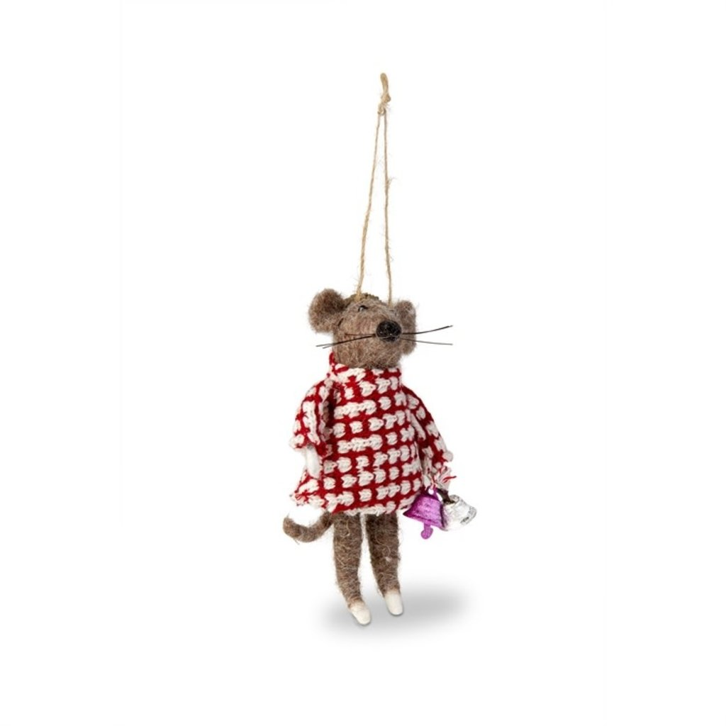 Felt Mouse With Bell