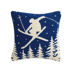 Leaping Skier Hook Pillow