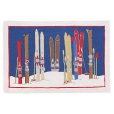 Skis & Poles Hook Rug