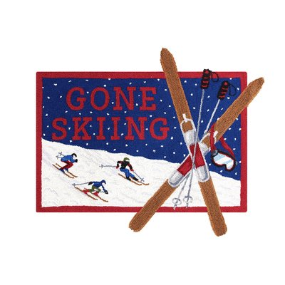 Gone Skiing Hook Rug