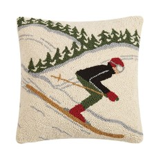 Fast Skier Hook Pillow
