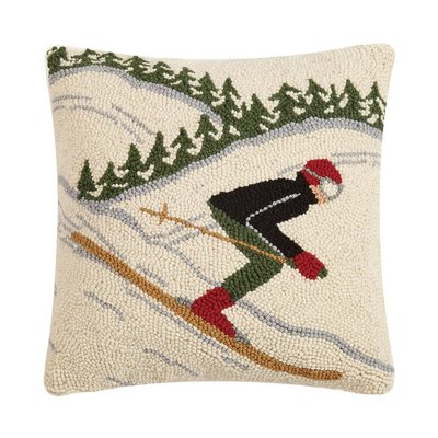 Fast Skier Hook Pillow