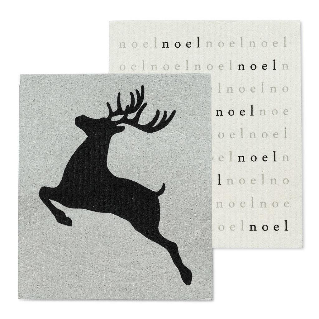 S/2 Noel Reindeer Dishcloths