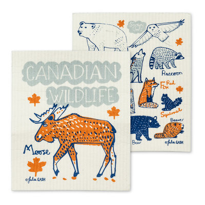 S/2 Canadian Wildlife Dishcloths