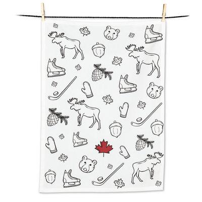 Canadian Icons Tea Towel