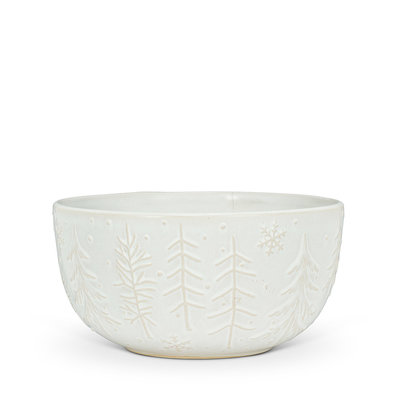 Large Tree & Snowflake Bowl