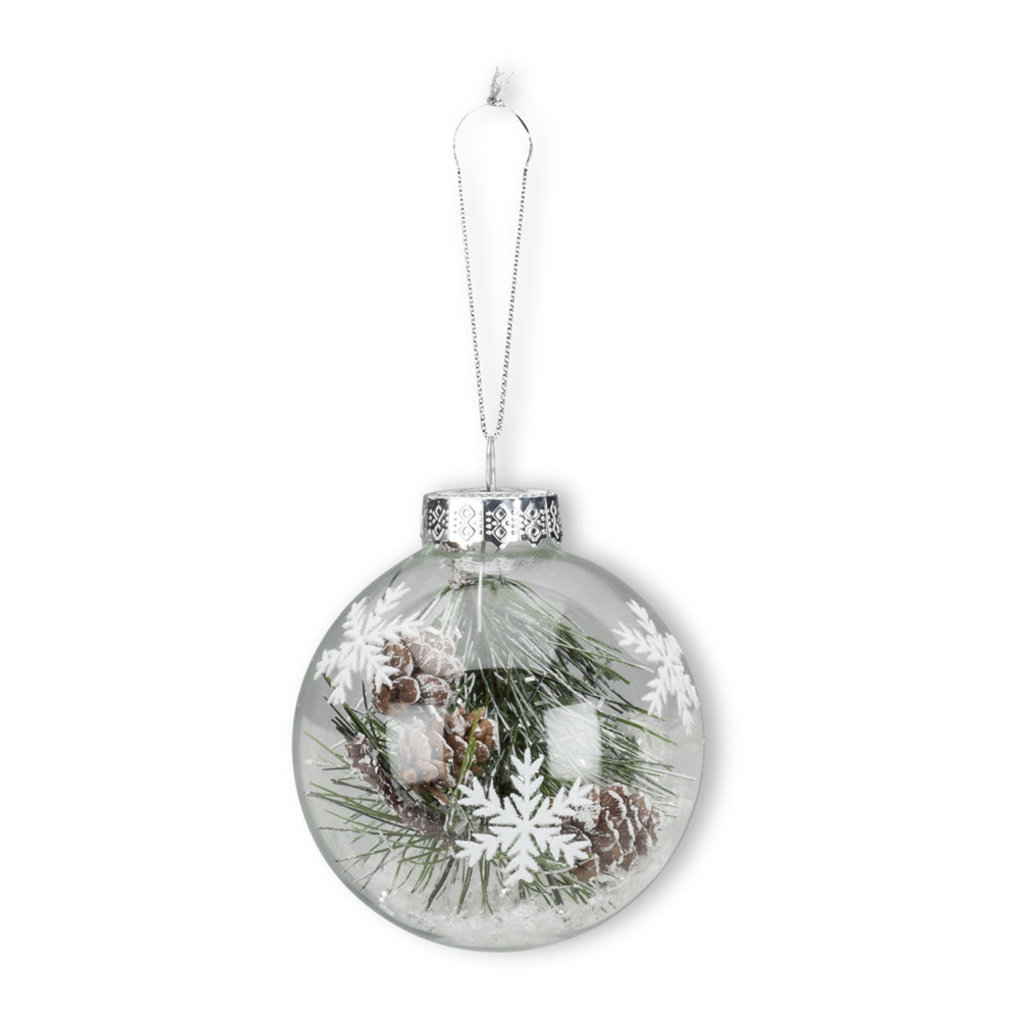 Pine & Snow Ornament