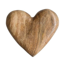 Hand-Carved Wood Heart