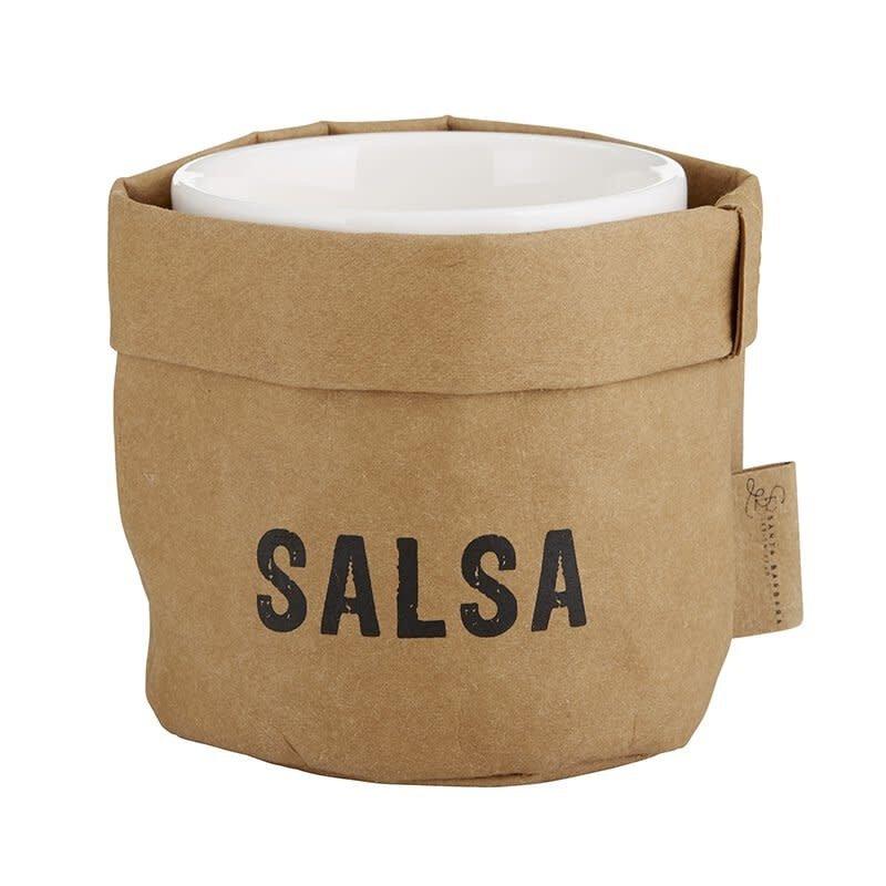 Salsa Holder w/Ceramic Dish