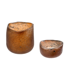 Smoke Roca Tealight Holders