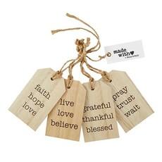 Wood Gift Tag Set