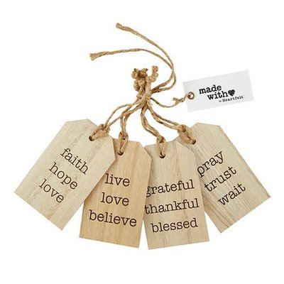 Wood Gift Tag Set
