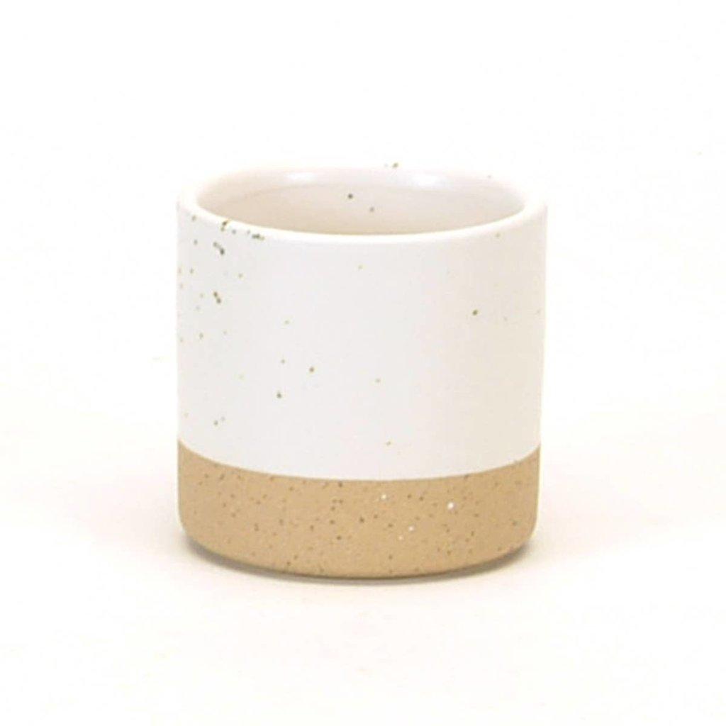 White Speckled Ceramic Pot