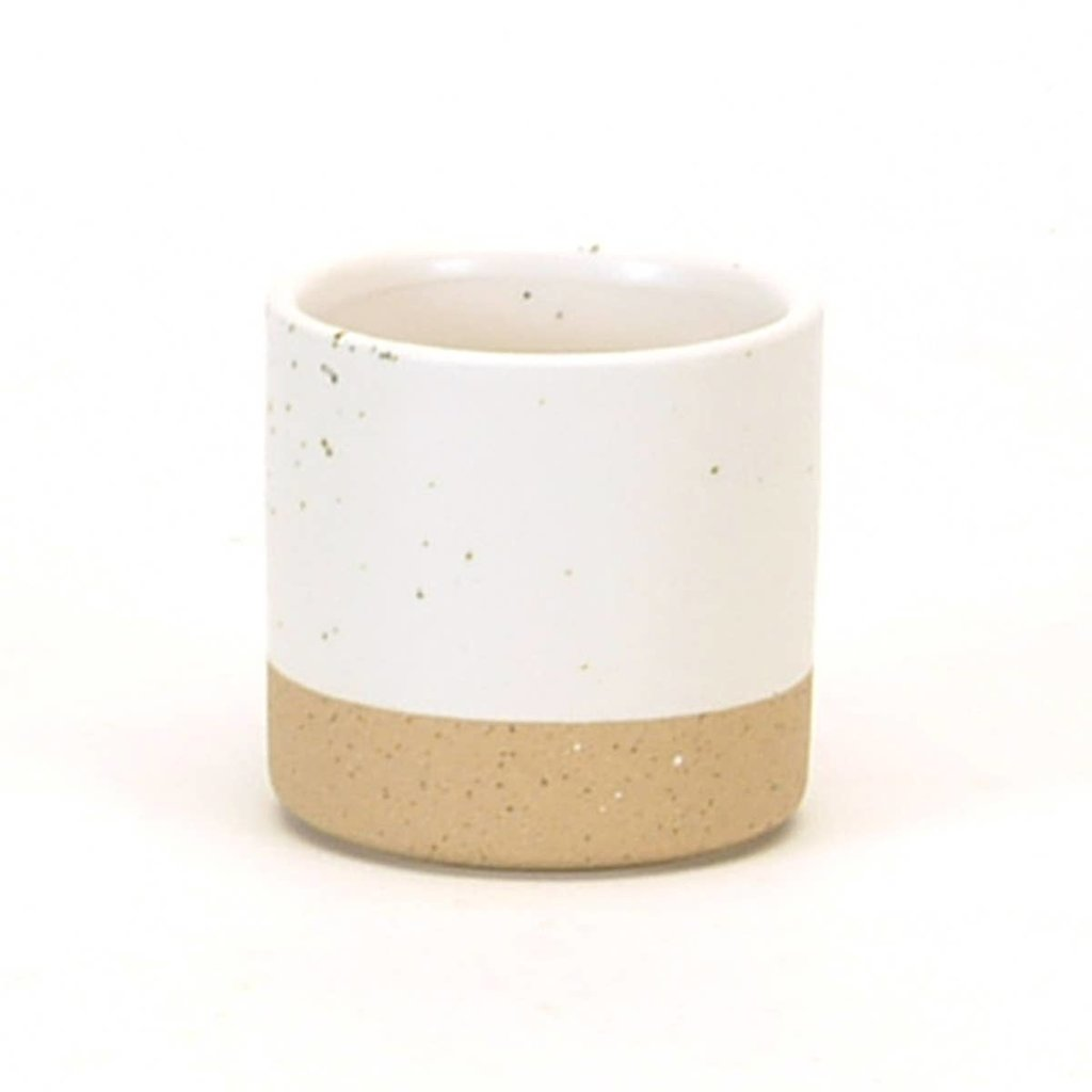 White Speckled Tealight Holder