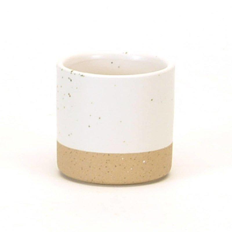 White Speckled Tealight Holder