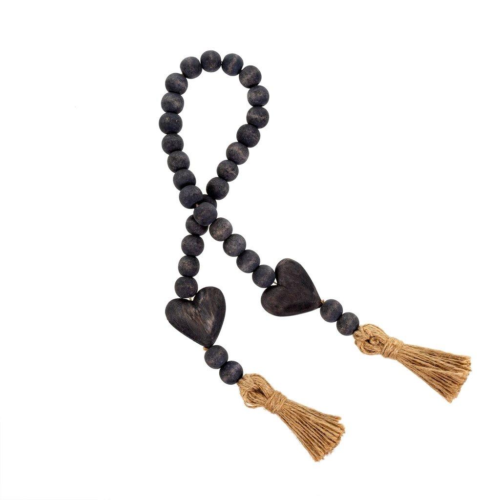 Grey Heart Beads