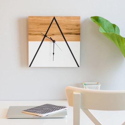 "8"" Square Mountain Clock"