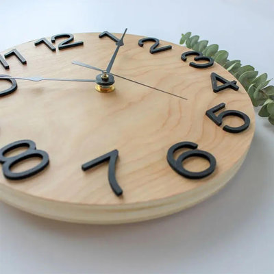 "12"" Raised Numbers Clock"