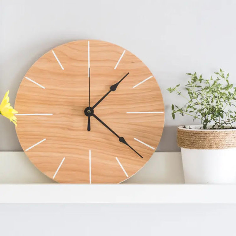 "12"" Minimalist White Clock"