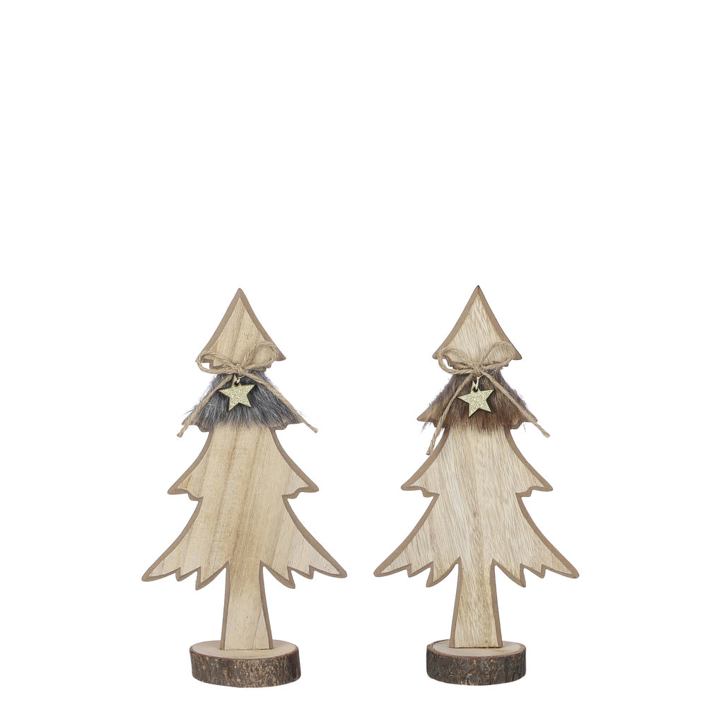 Wood Trees With Star