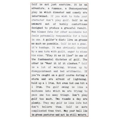 Golf Typewriter Sign