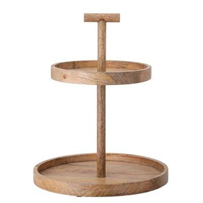 2-Tier Mango Wood Tray