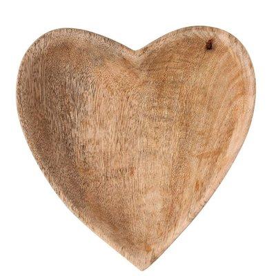 Mango Wood Heart Bowl