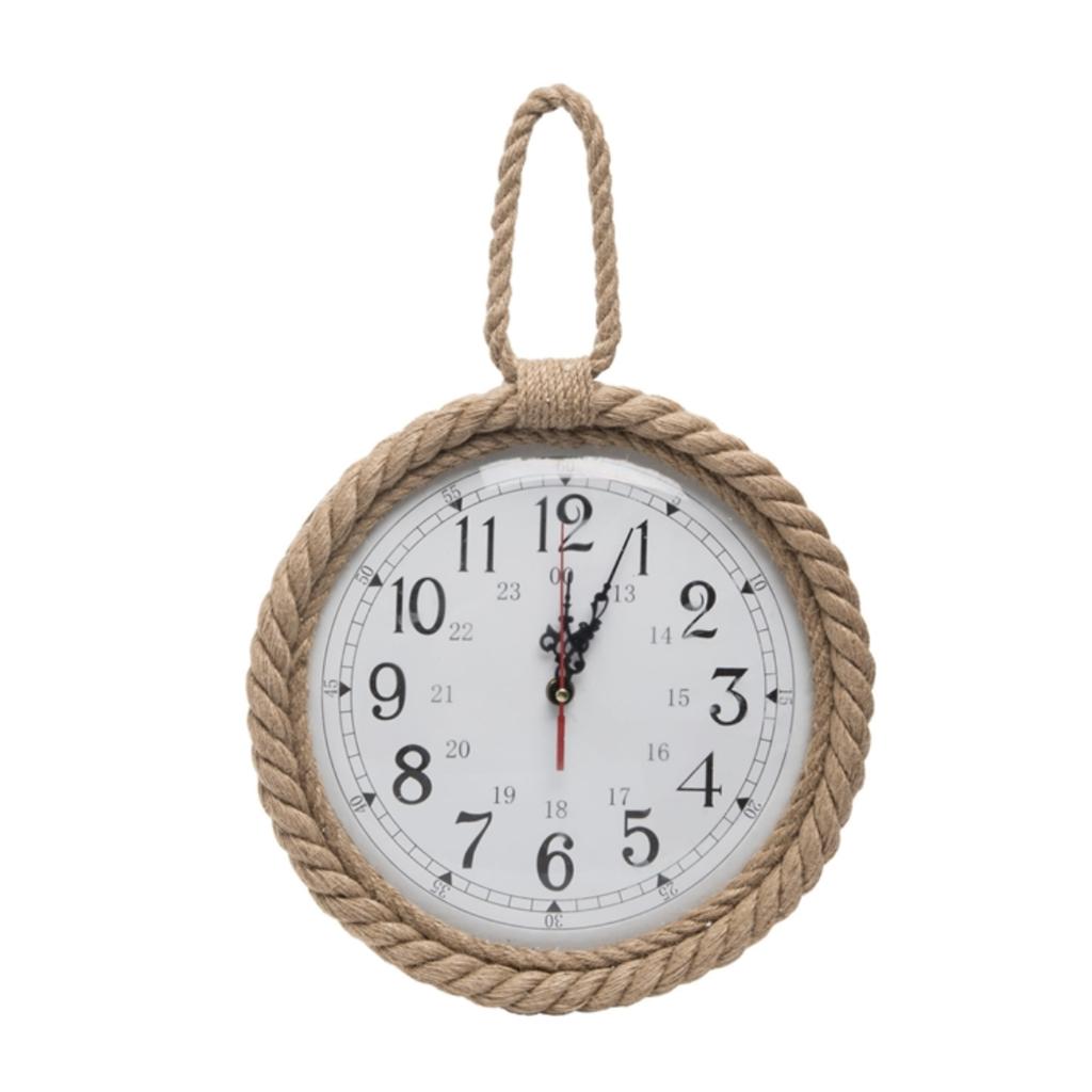 Natural Rope Round Clock