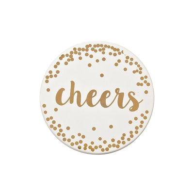 Gold Cheers Coasters