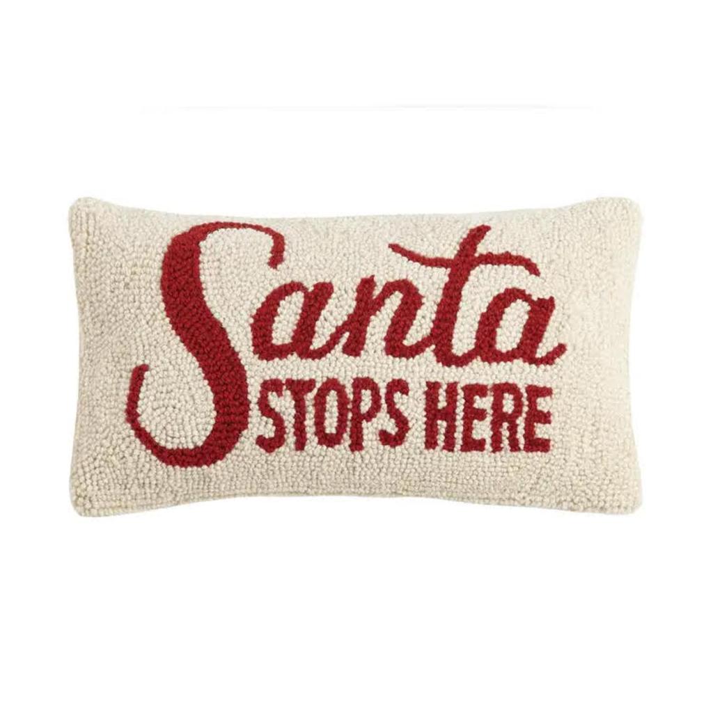 Santa Stops Here Pillow