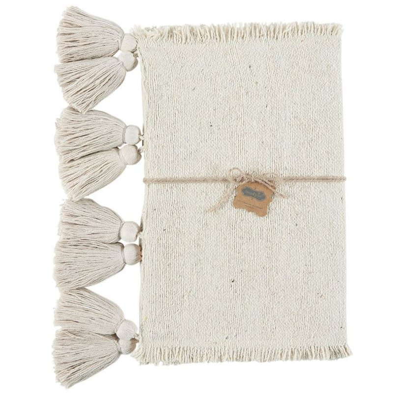 Off White Ponchaa Table Runner