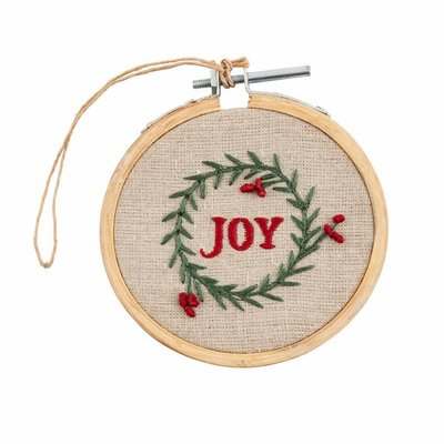 Joy Embroidery Hoop Ornament