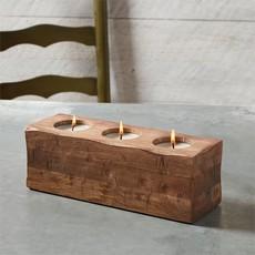 Three Hole Wood Candle