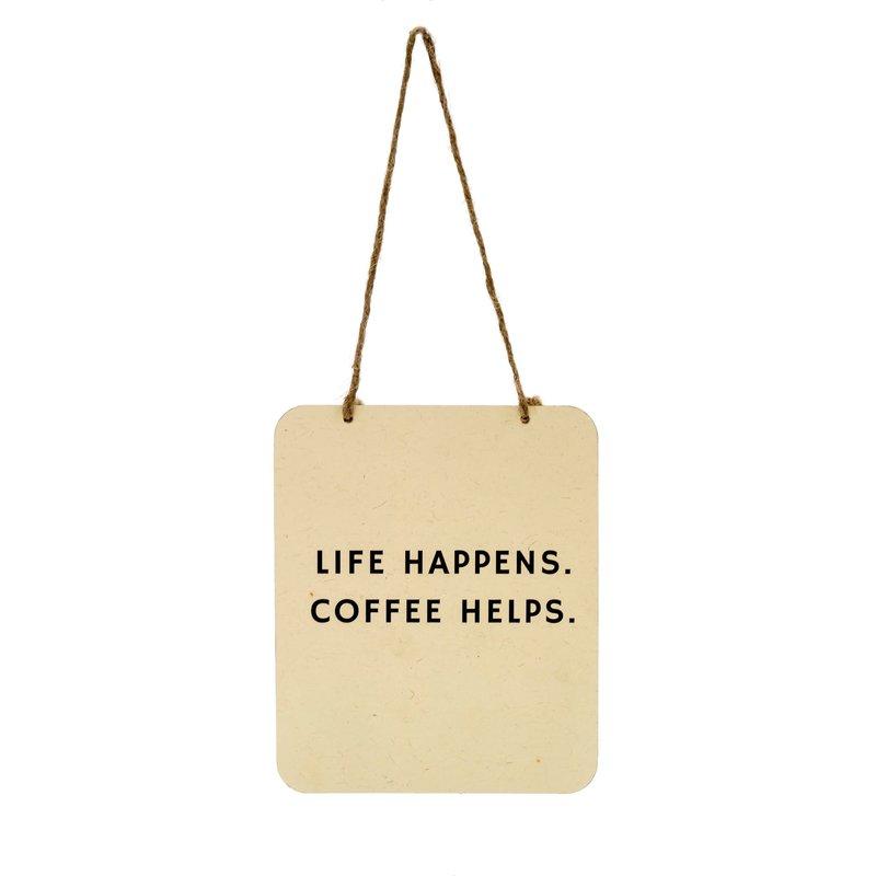 Coffee Helps Tin Sign