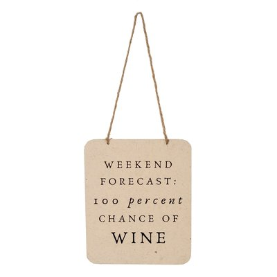 Weekend Forecast Tin Sign