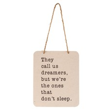Dreamers Tin Sign