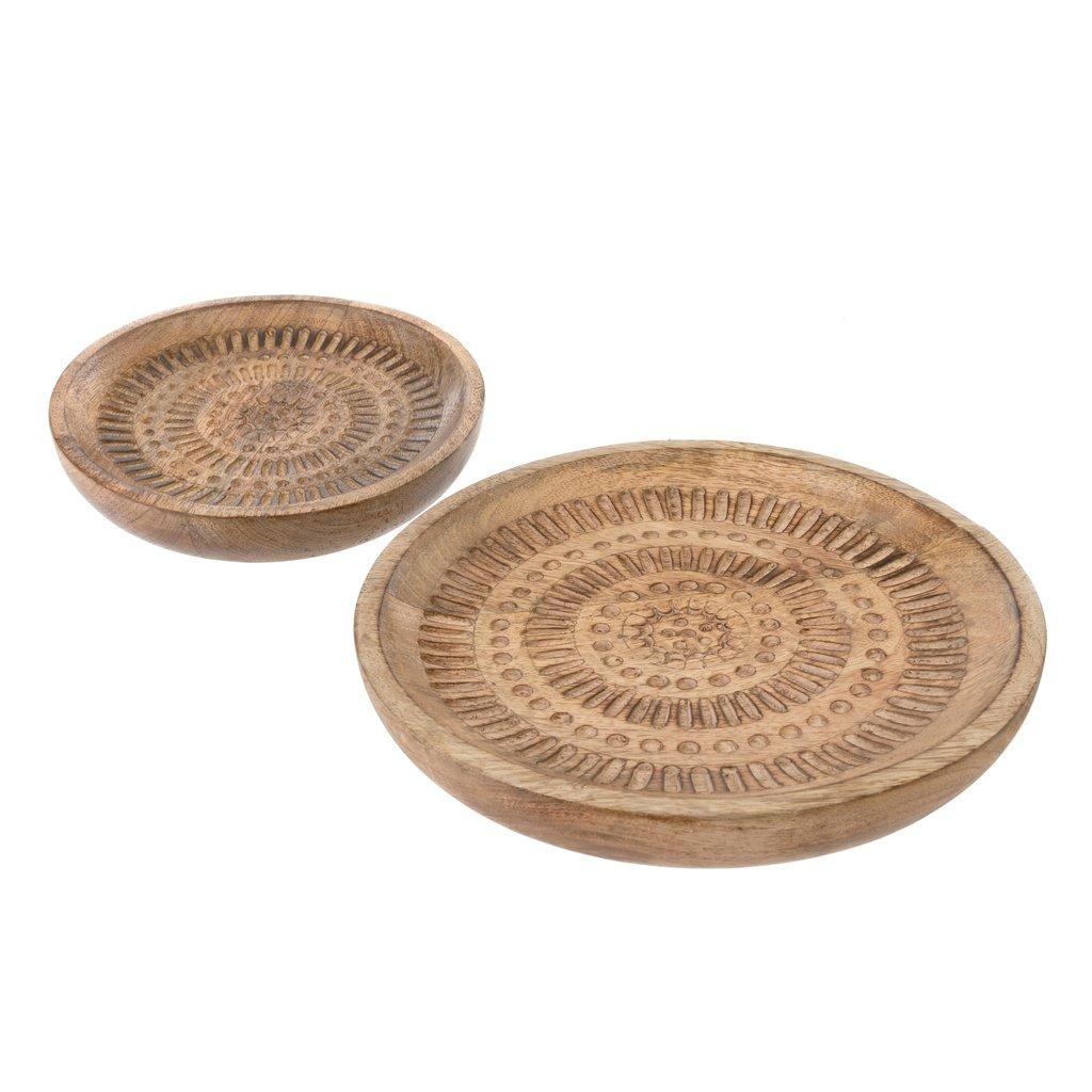 Bali Carved Serving Plates