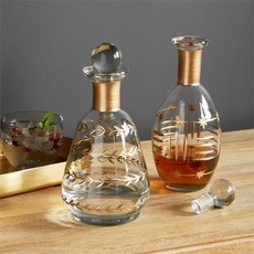 Etched Glass Star Decanter