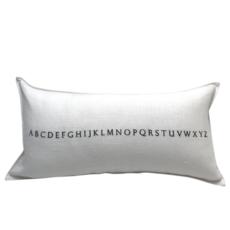 White Linen Alphabet Pillow