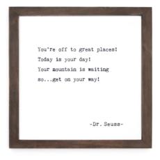 You're Off Framed Wood Sign