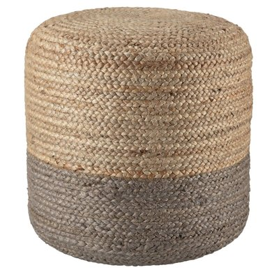 Tall Simply Taupe Pouf
