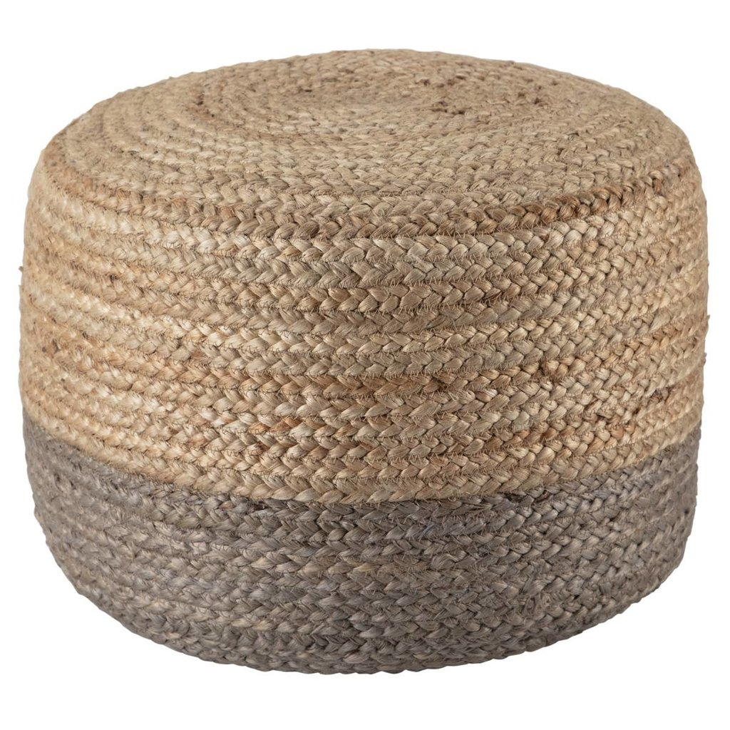 Short Simply Taupe Pouf