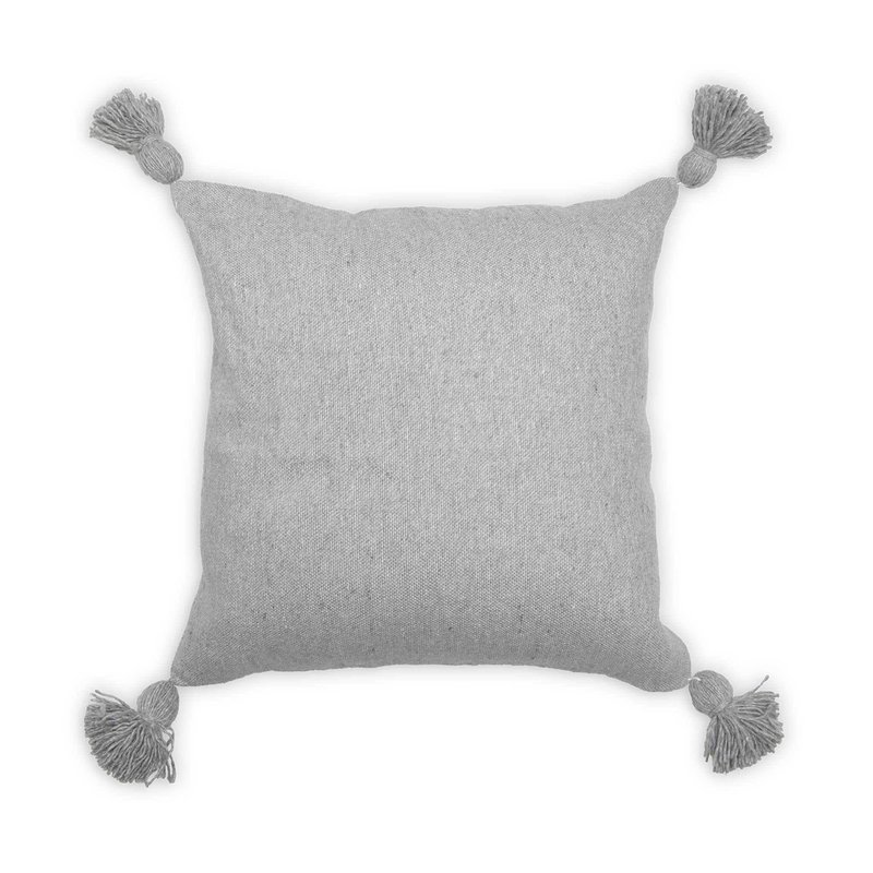 Light Grey Moroccan Pillow