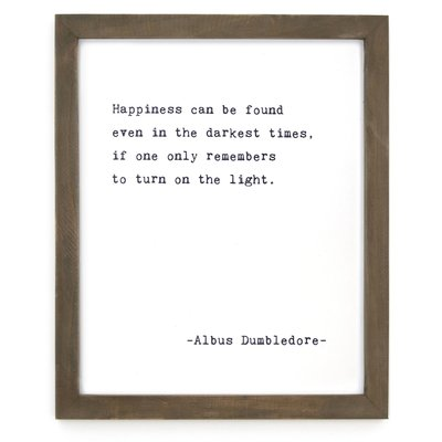 Happiness Framed Wise Words