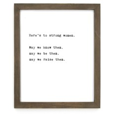 Strong Woman Framed Wise Words