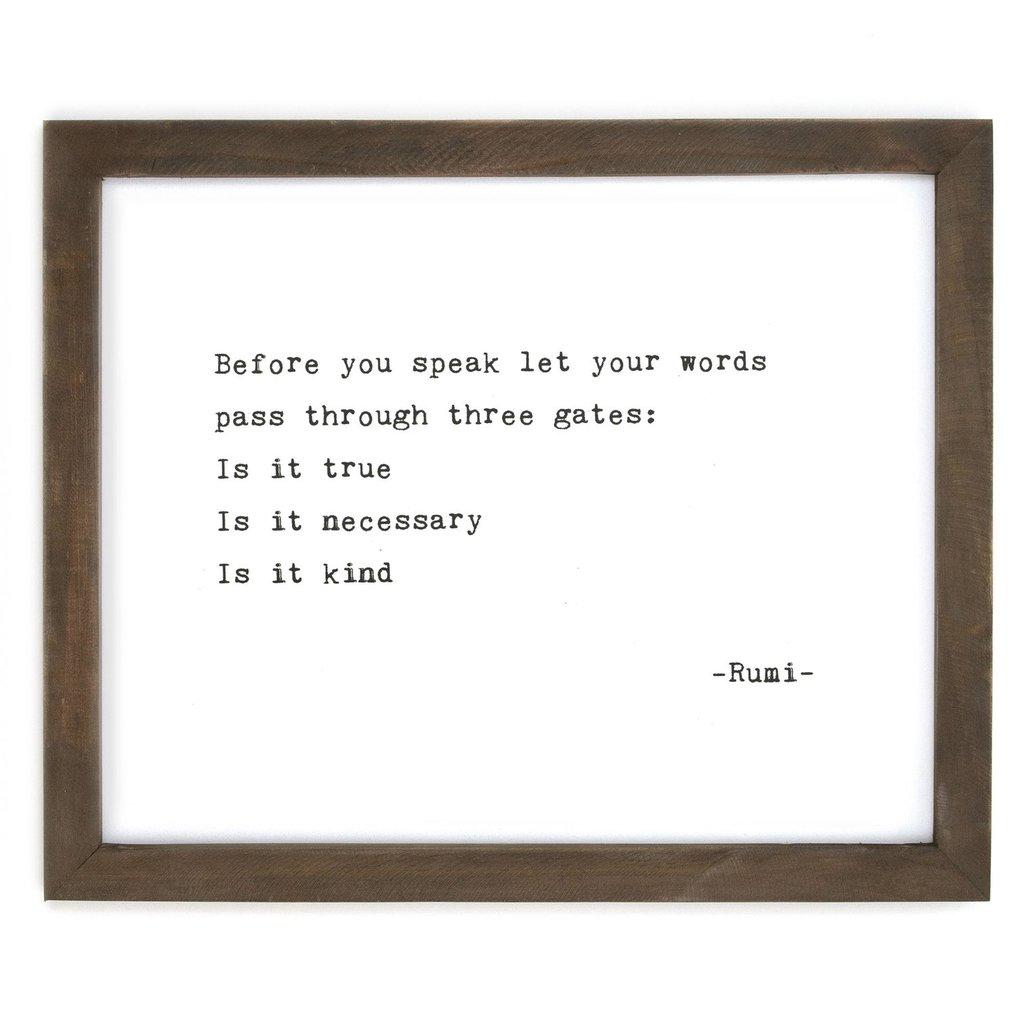 Before You Speak Framed Wise Words