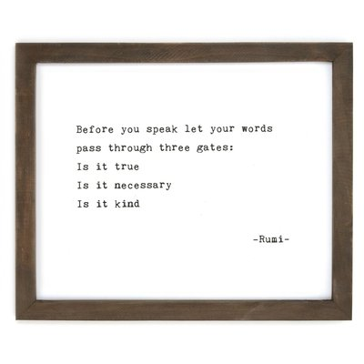 Before You Speak Framed Wise Words