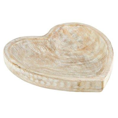 Large Whitewash Heart Bowl